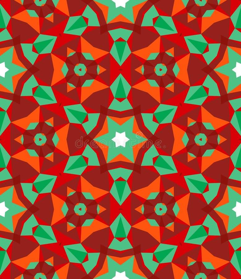 Flerfärgad geometrisk modell i ljus färg. royaltyfri illustrationer
