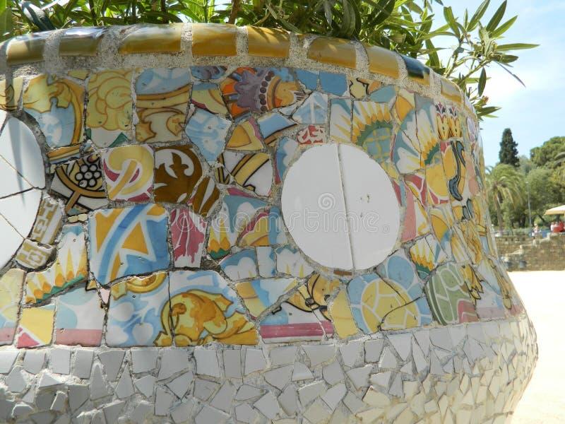 Flerfärgad glass mosaiktegelplatta arkivfoto
