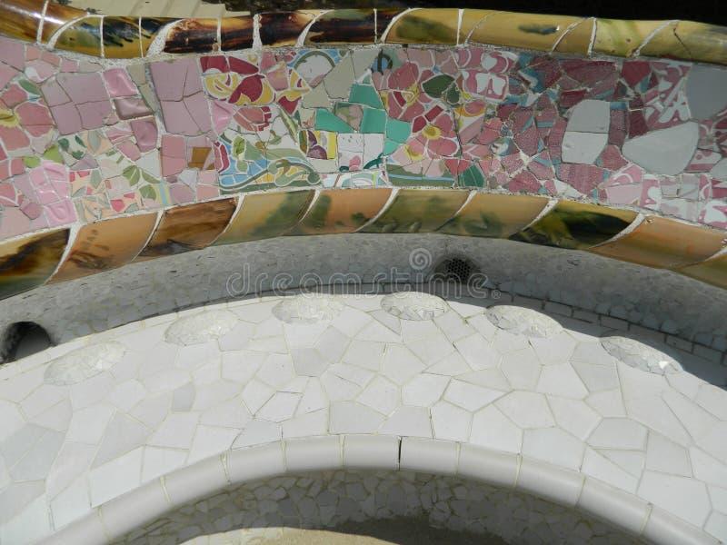 Flerfärgad glass mosaiktegelplatta arkivbild