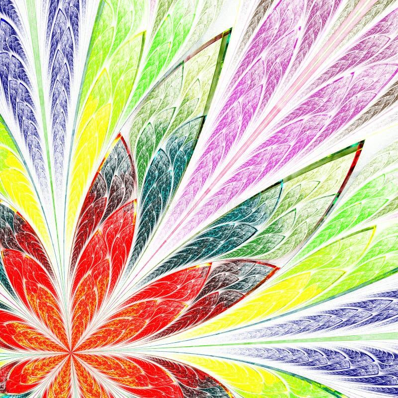 Flerfärgad härlig fractalblomma. royaltyfri illustrationer