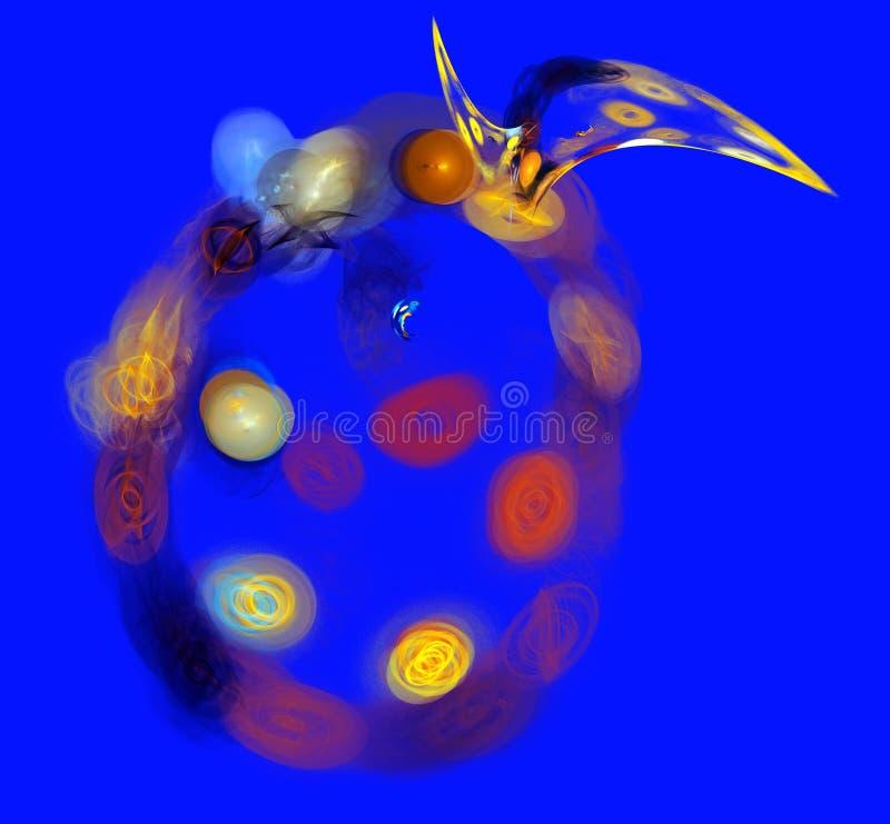 Flerfärgad illustration för abstrakta bakgrunder arkivfoto