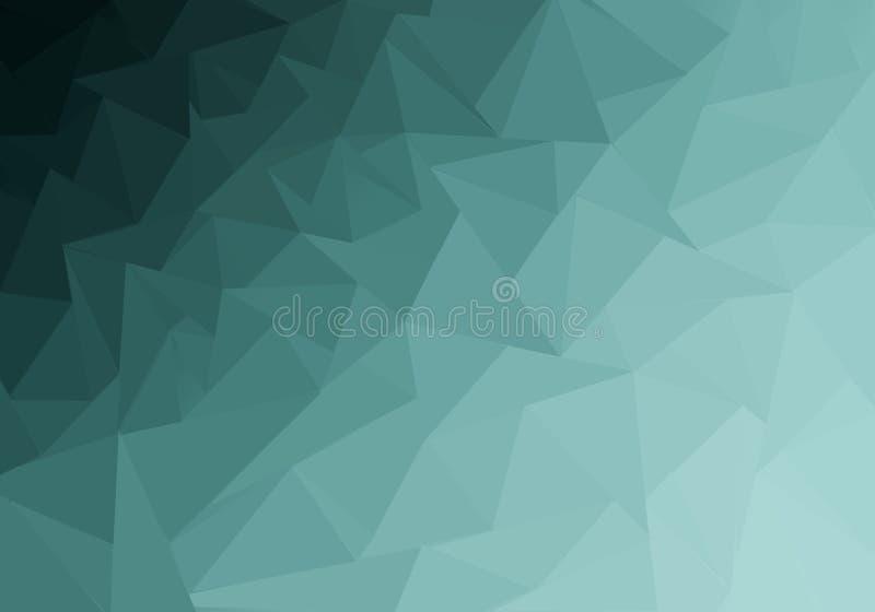 Flerfärgad polygonal illustration, som består av trianglar Geometrisk bakgrund i origamistil med lutning royaltyfri illustrationer