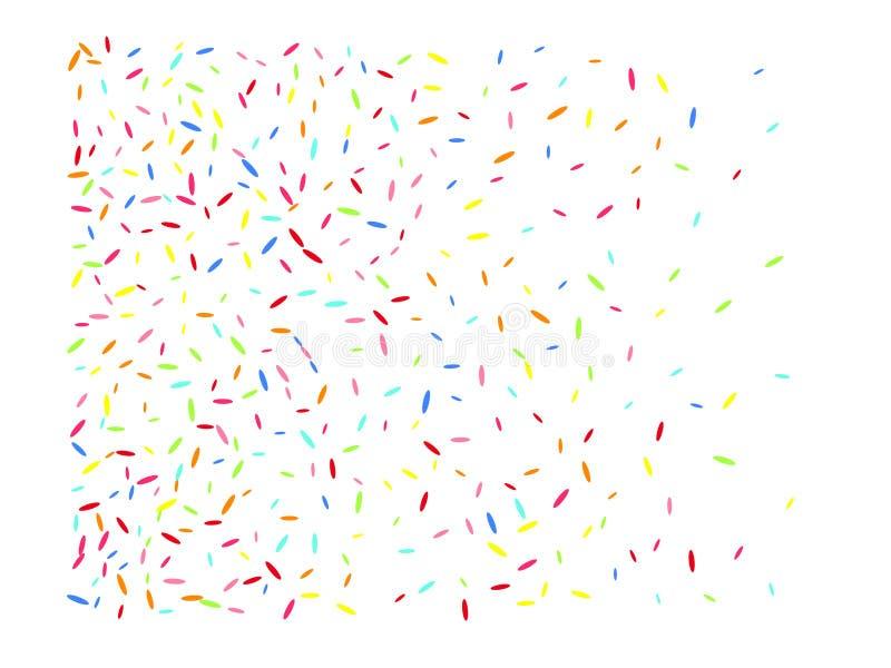 Flerfärgad sexhörnig formkonfettitolkning vektor illustrationer