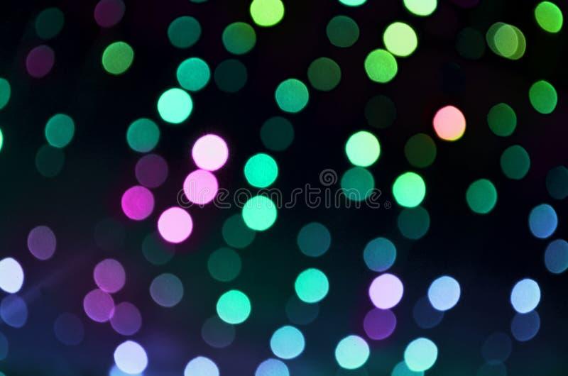 Flerfärgad skinande bokeh royaltyfri foto