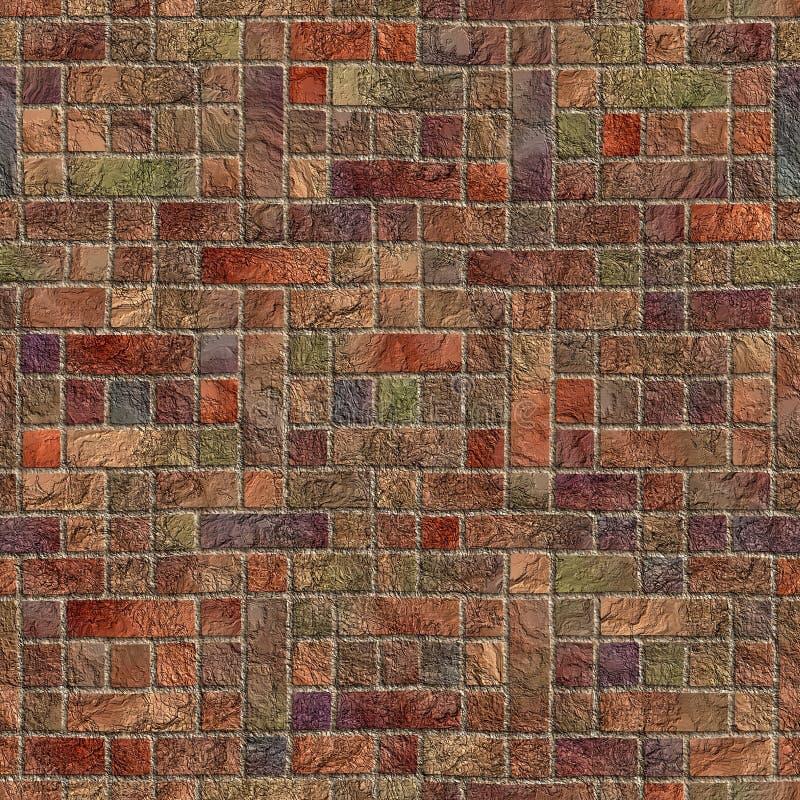 Flerfärgad stenvägg stock illustrationer