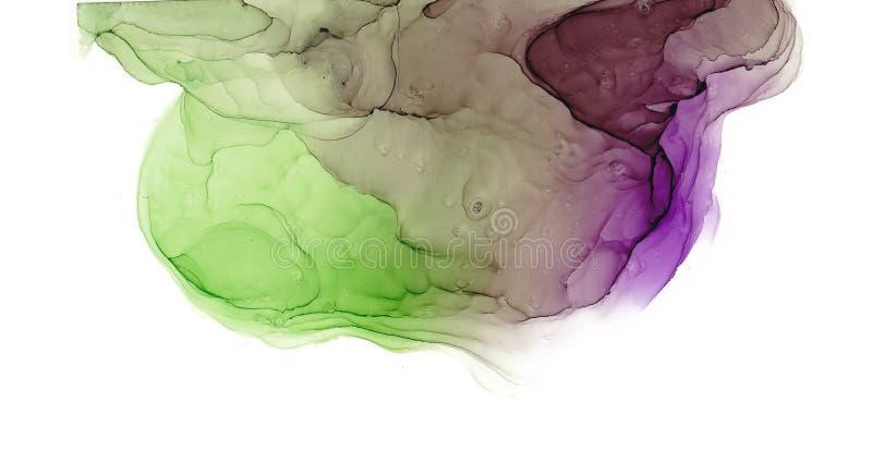 Flerfärgad textur för alkoholfärgpulver Fluid färgpulverabstrakt begreppbakgrund konst för design vektor illustrationer