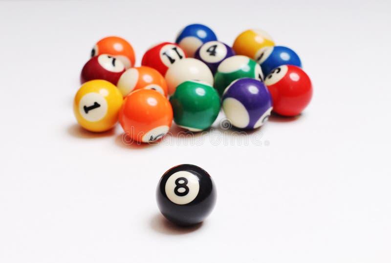 Flerfärgade kulor för snooker två royaltyfria bilder