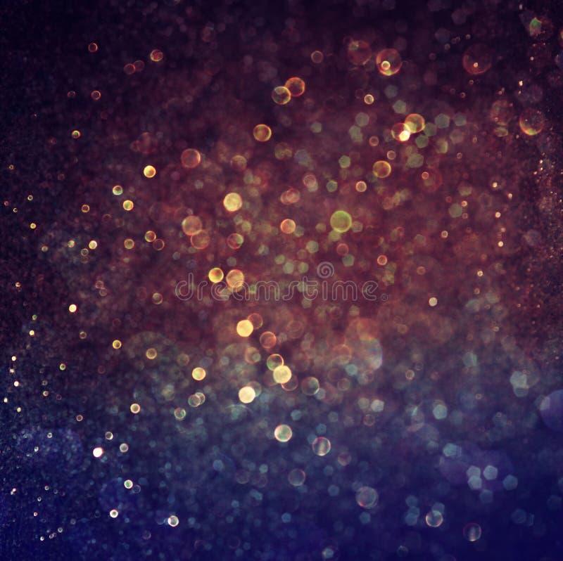 Flerfärgade ljus för tappningstilbokeh Defocused abstrakt bakgrund arkivbild