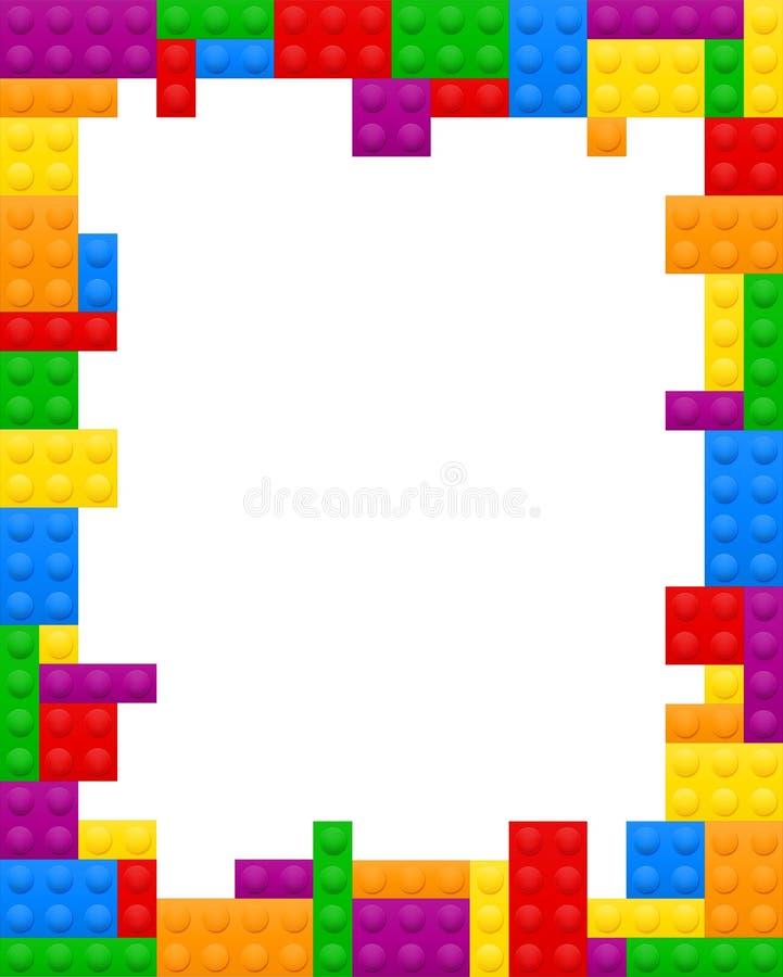Flerf?rgad plast- konstrukt?r f?r barns bildande illustration f?r vektor f?r lekmateriel stock illustrationer