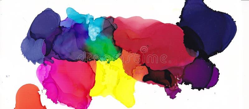 Flerf?rgad textur f?r alkoholf?rgpulver Fluid f?rgpulverabstrakt begreppbakgrund konst f?r design vektor illustrationer
