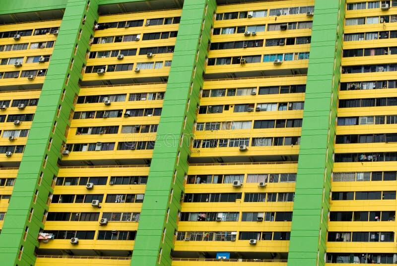 flerfamiljshus singapore arkivbild