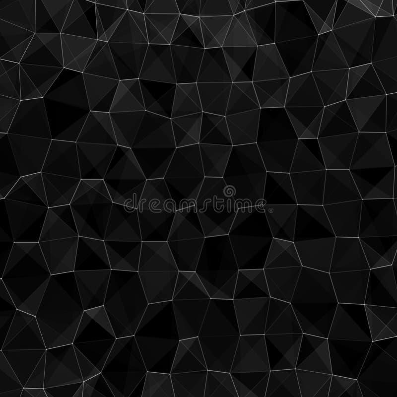 Flerskiktssfär av bikakor Bakgrund för färsk svart hexagon Futuristiskt honungscomb-koncept Mönster för bakgrundsdesign vektor illustrationer