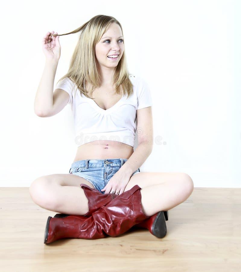 Flertar Adolescente Foto de Stock Royalty Free