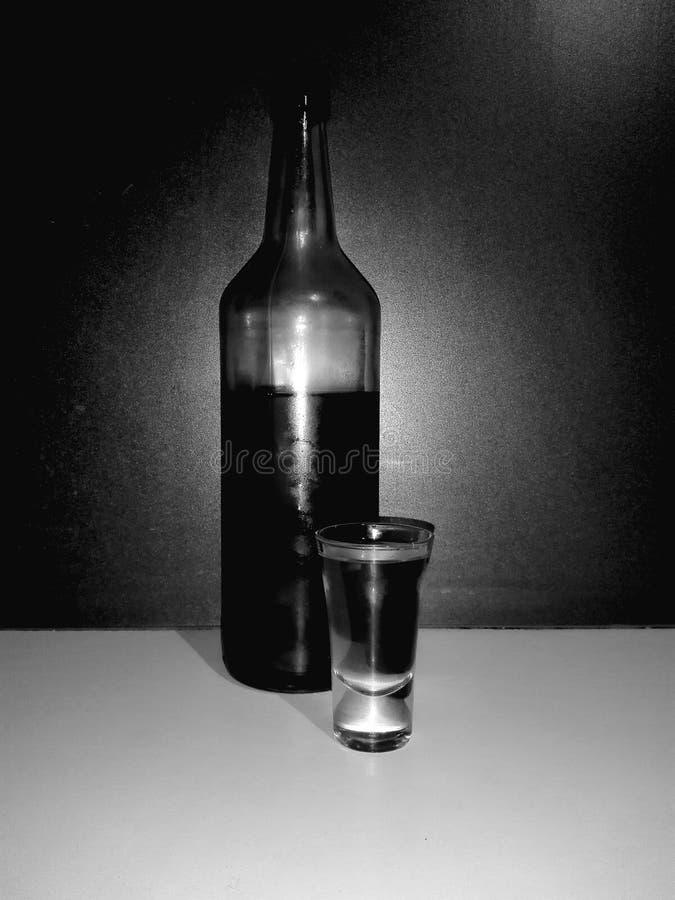 Fles als warm stock foto