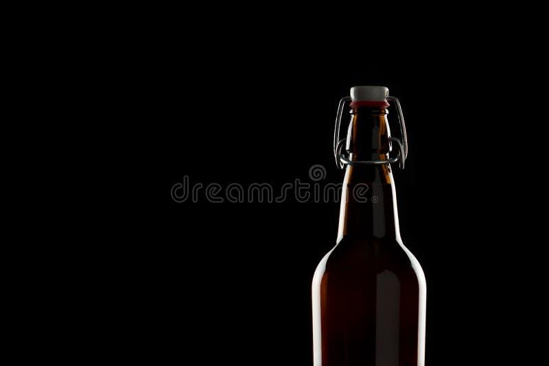 Fles bier stock foto's