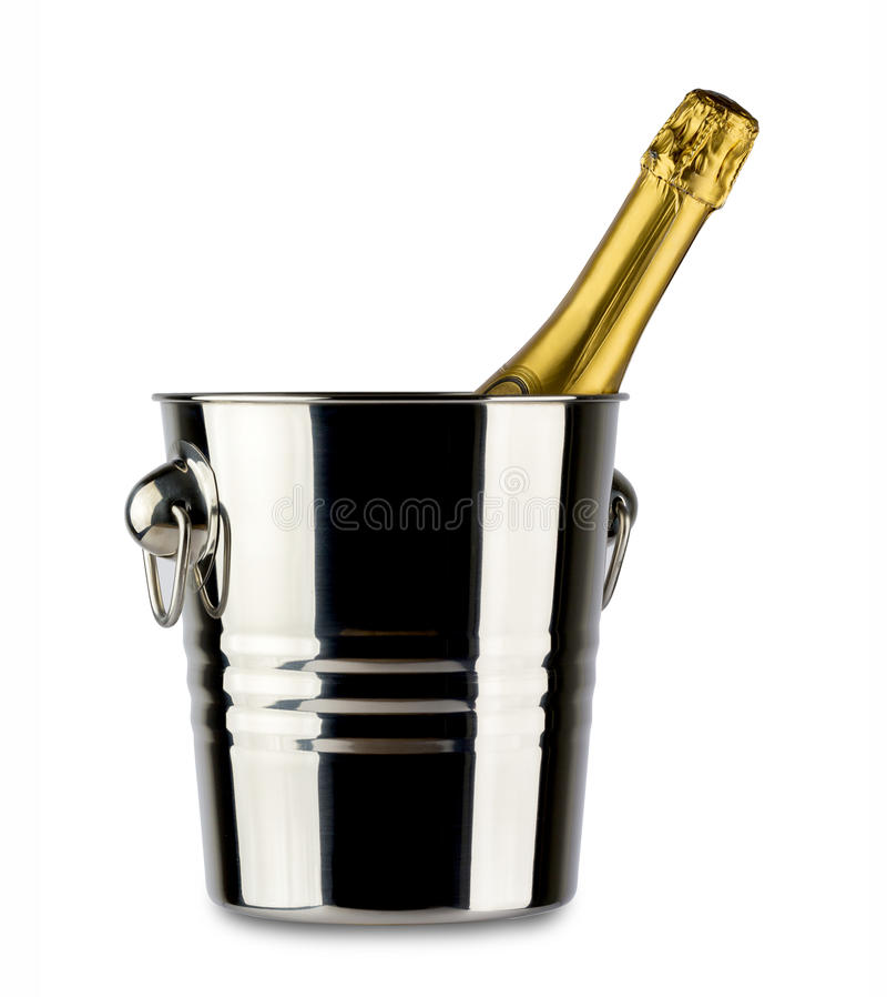 Fles champagne stock foto's