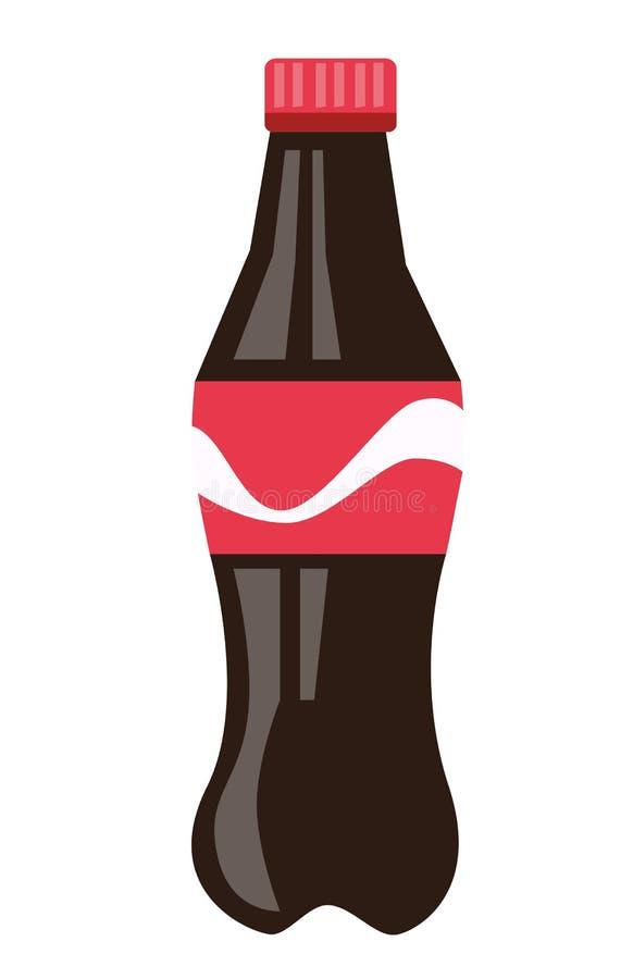 Fles de bruine illustratie van het soda vectorbeeldverhaal vector illustratie