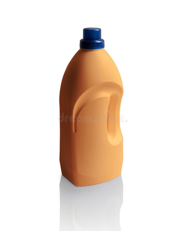 Fles dishwashing vloeistof op wit stock fotografie