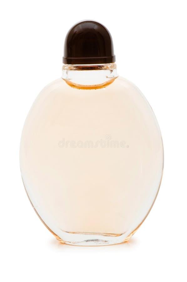 Fles geïsoleerdg parfum royalty-vrije stock foto