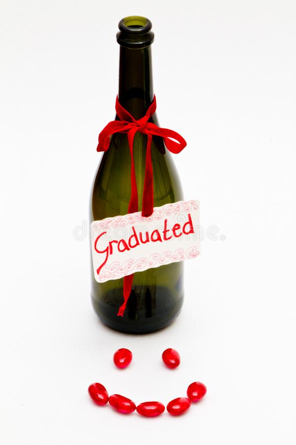 Fles gediplomeerd GLB stock foto