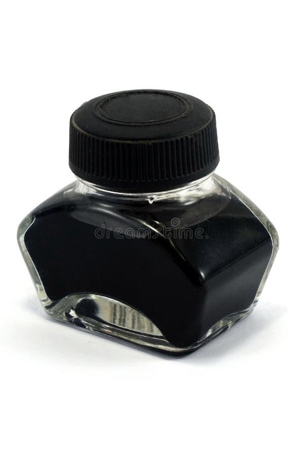 Fles inkt stock afbeelding