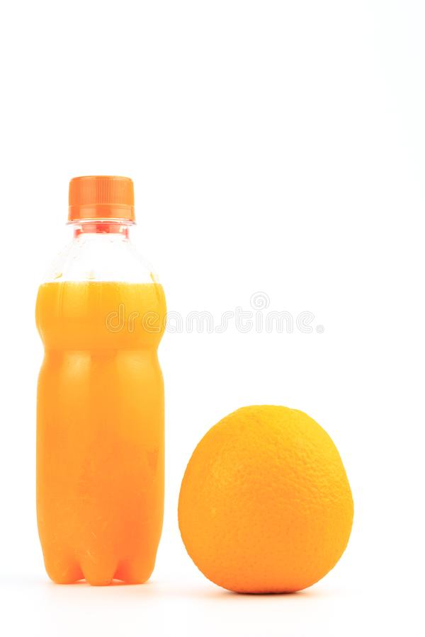 Fles Jus d'orange stock foto