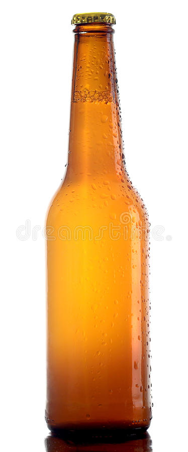 Fles lagerbierbier royalty-vrije stock afbeelding