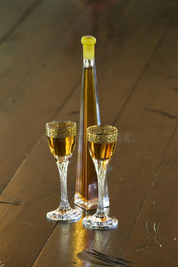 Fles Likeur royalty-vrije stock fotografie