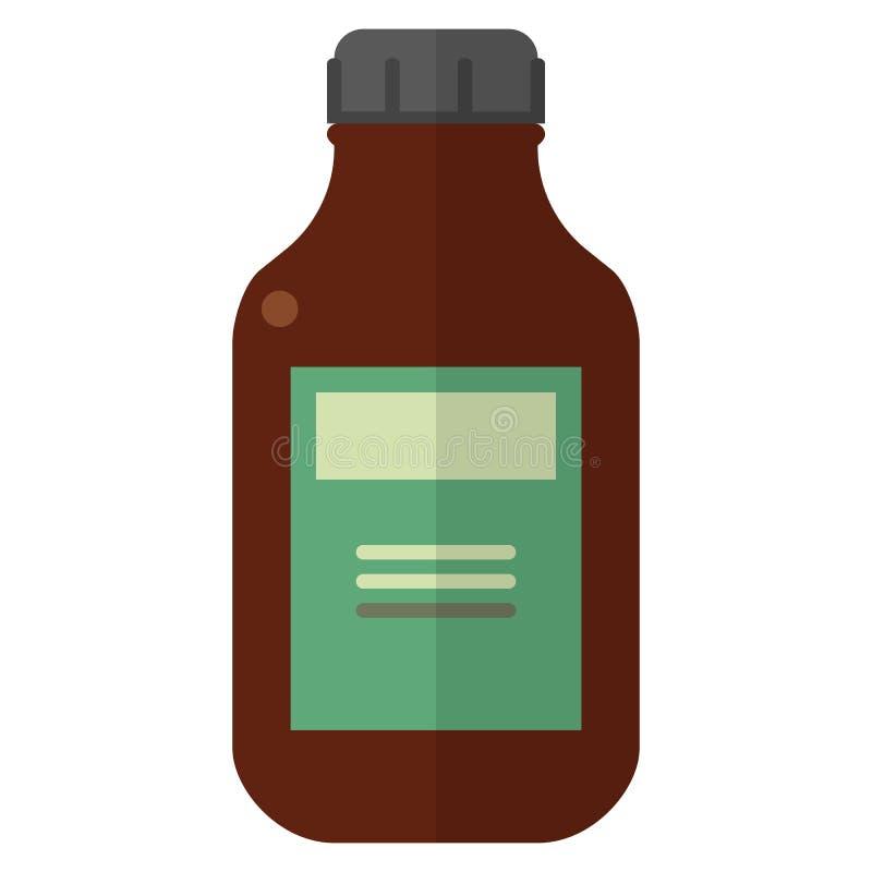 Fles met geneesmiddel vectorillustratie stock illustratie