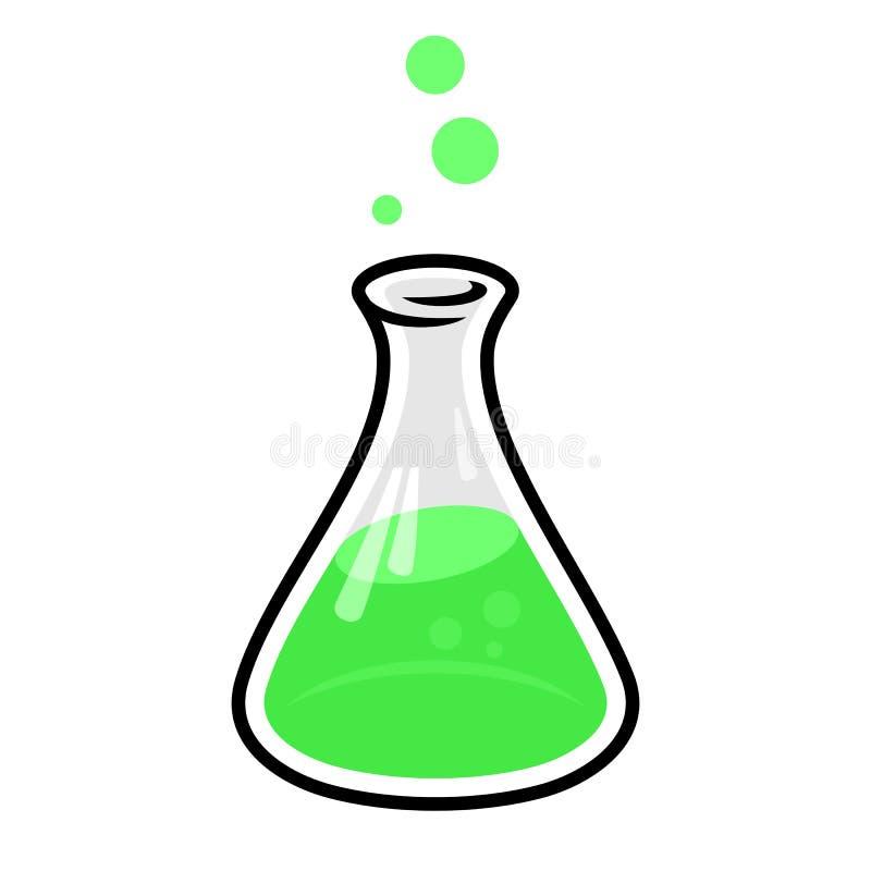 Fles met giftig chemisch product royalty-vrije illustratie