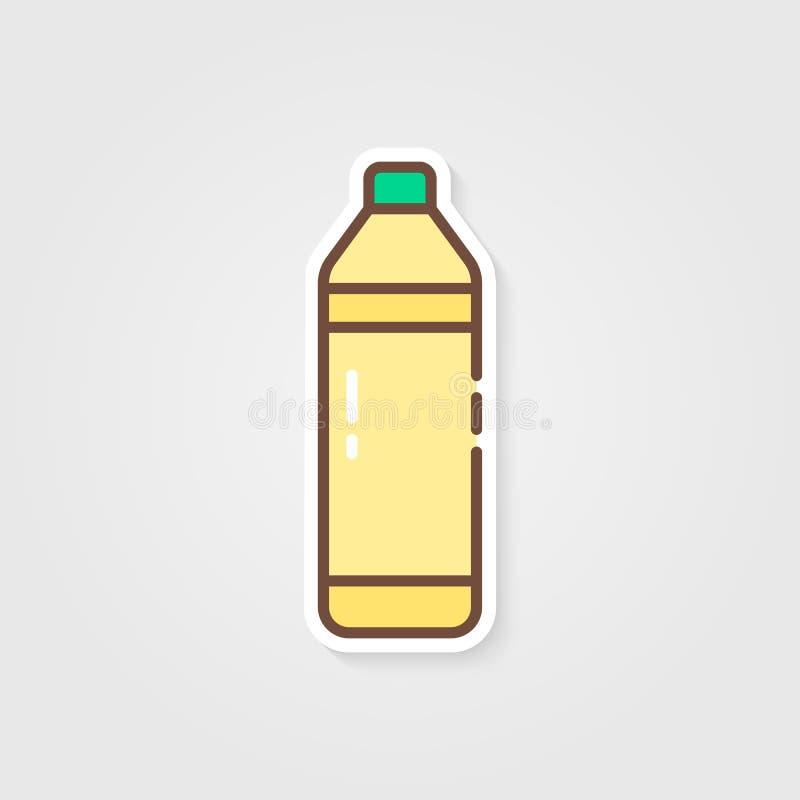 Fles met limonade en schaduw royalty-vrije illustratie