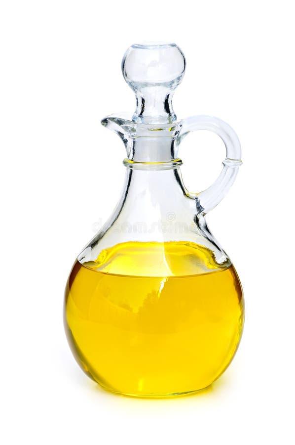 Fles met olie stock foto's