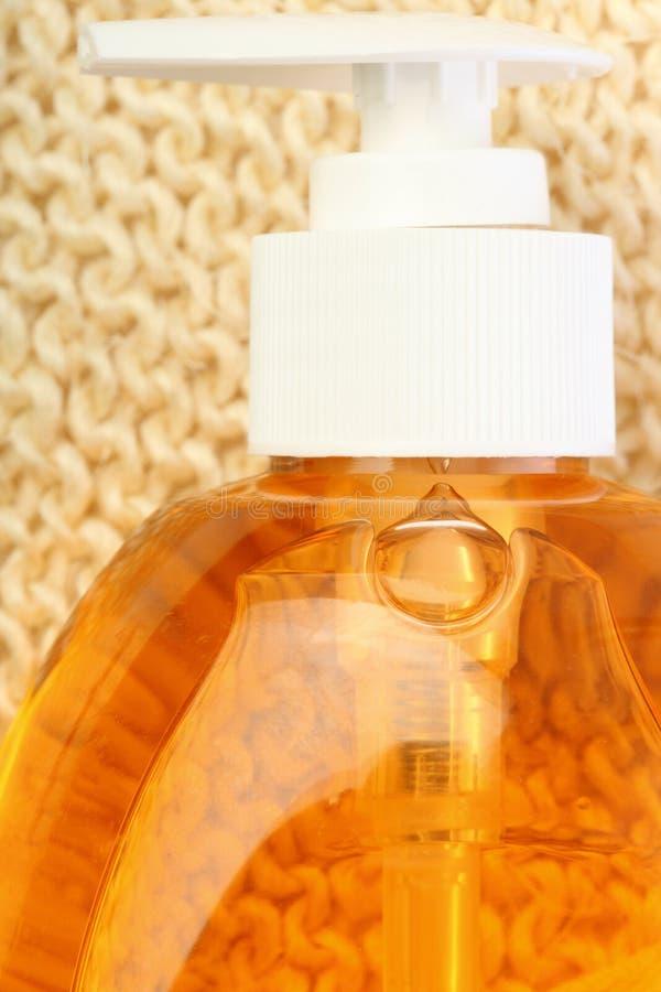 Fles met vloeibare zeep royalty-vrije stock foto