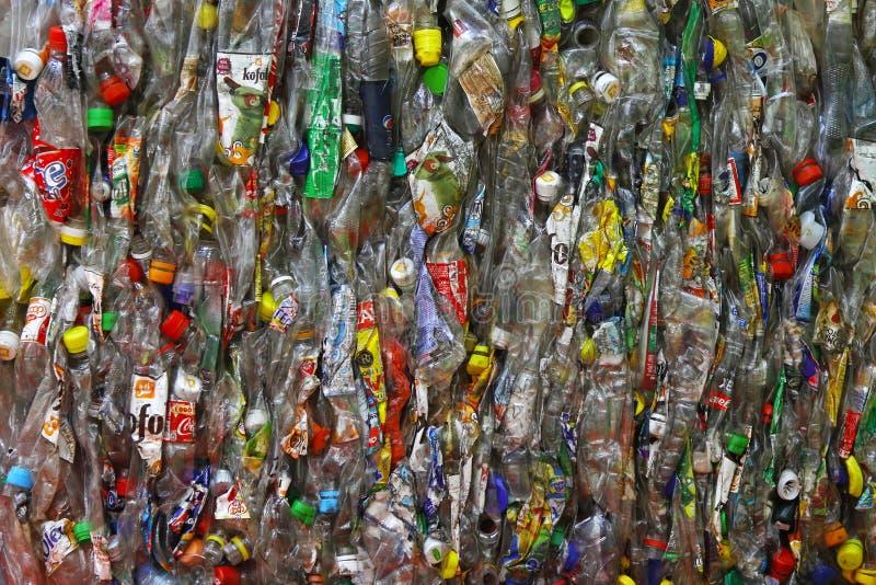 Fles recycling royalty-vrije stock foto