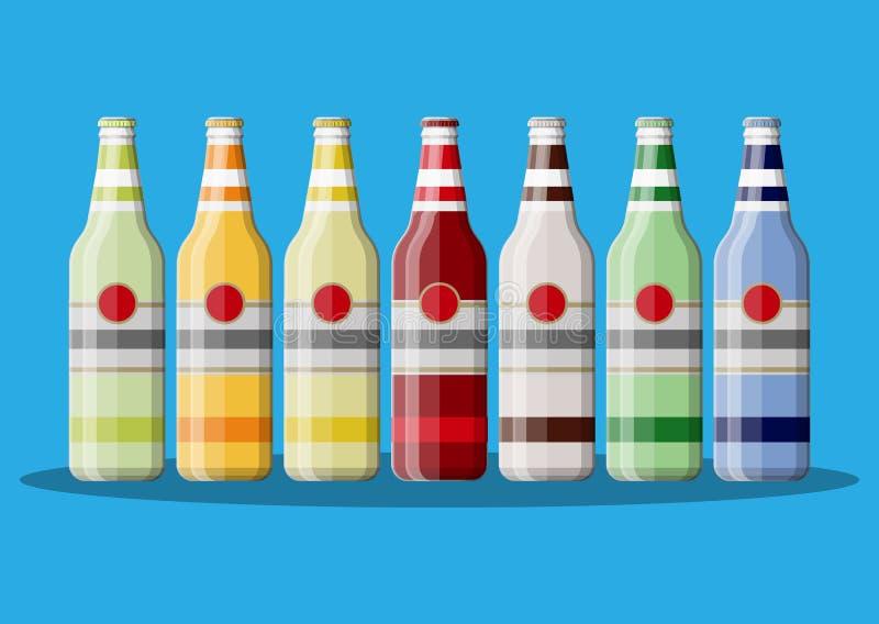Fles sprankelend drank of sap vector illustratie
