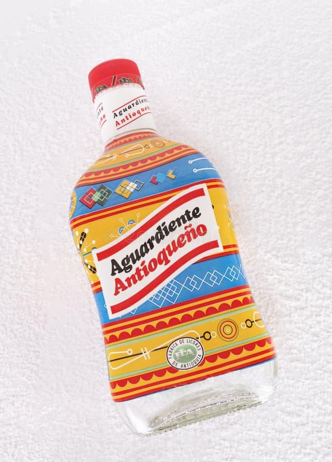 Fles van aguardienteantioqueã±o Colombia royalty-vrije stock afbeeldingen