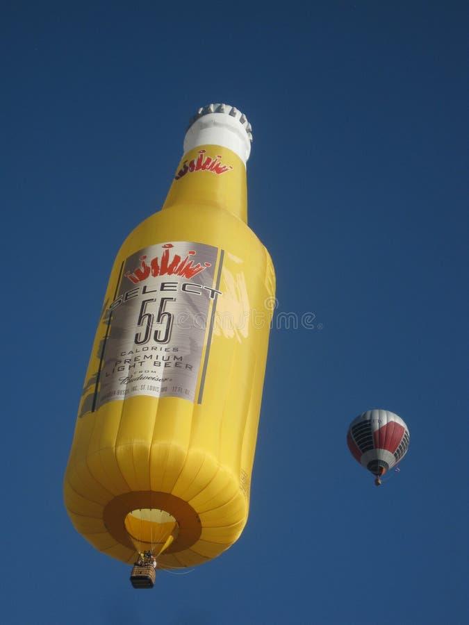 Fles van het Bier van de Vorm van Fest van de Ballon van Albuquerque de Speciale stock fotografie