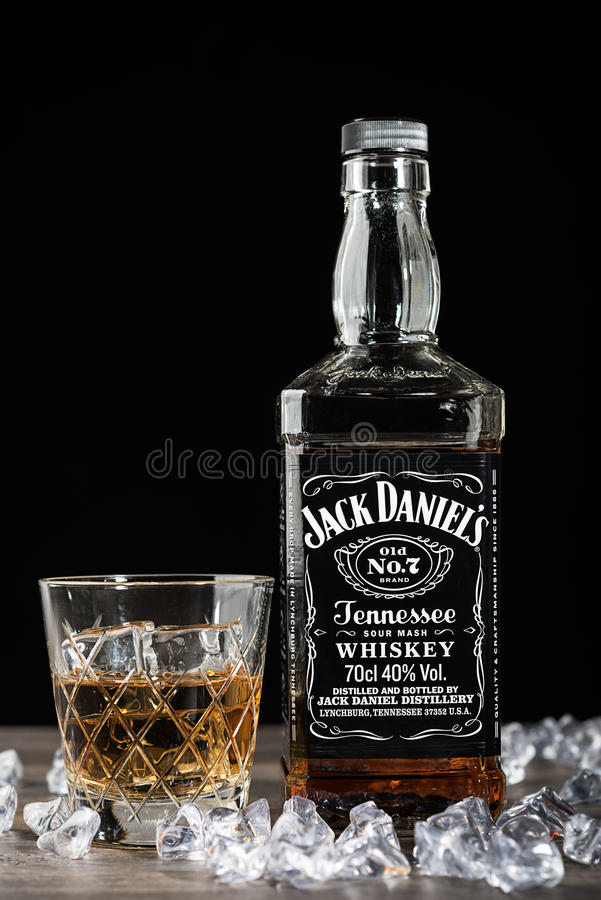 Fles van Jack Daniel royalty-vrije stock foto