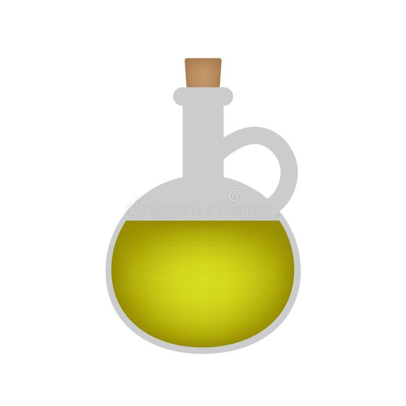 Fles van olijfoliepictogram royalty-vrije illustratie