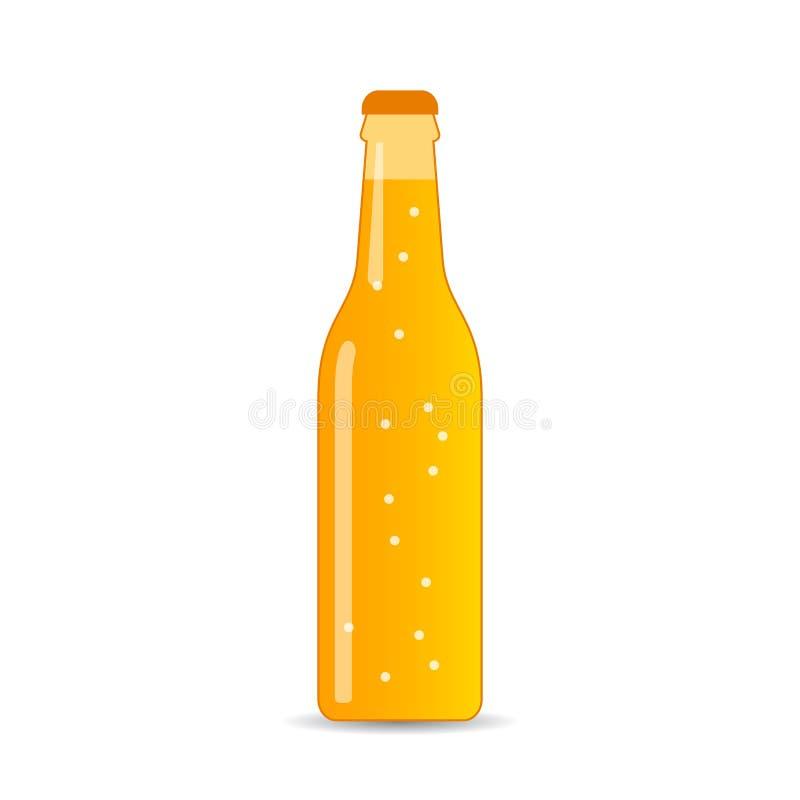 Fles van sprankelend drank vectorpictogram stock illustratie