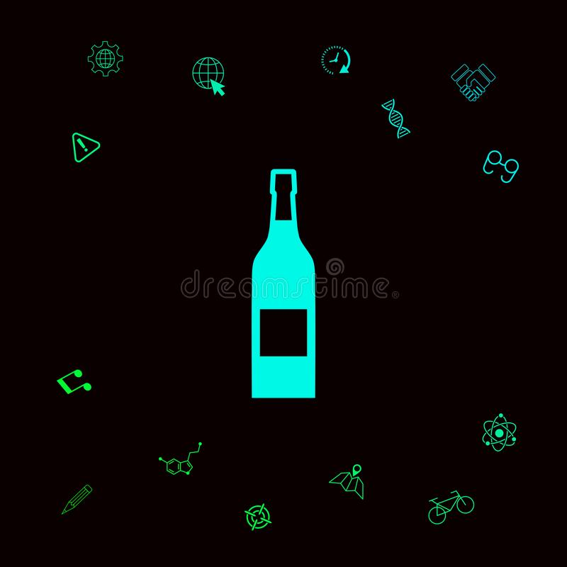 Fles van wijnpictogram vector illustratie