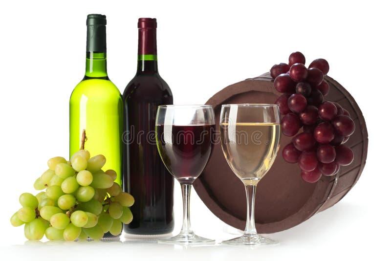 Fles van wijnstok stock foto