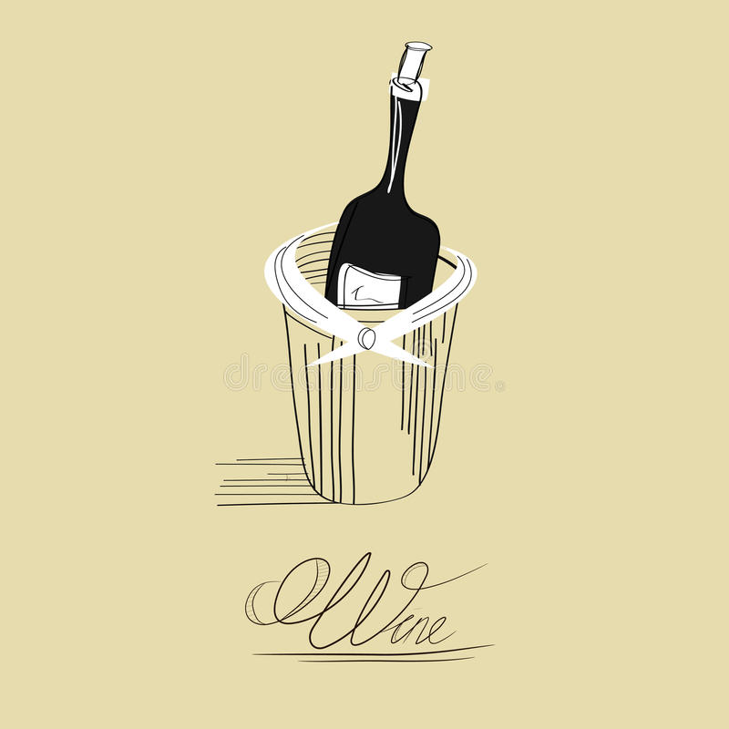 Fles voor wijn vector illustratie