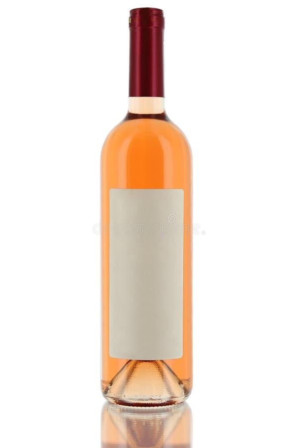 Fles witte wijn stock afbeelding