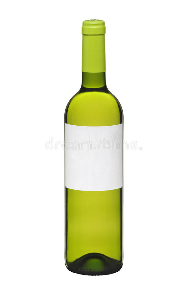 Fles witte wijn royalty-vrije stock fotografie
