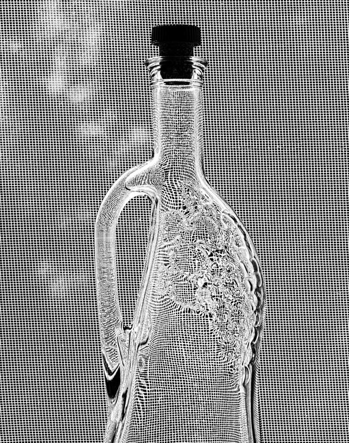 Fles Zwart-witte stijl stock foto's