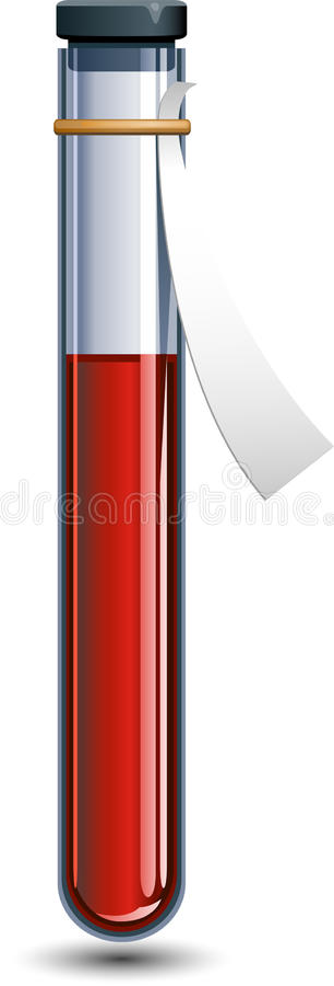 Flesje bloed stock illustratie
