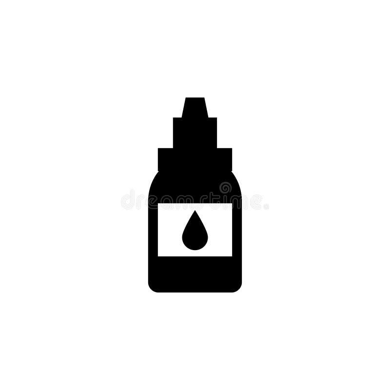 flesje met alcoholpictogram Element van tatoegeringspictogram voor mobiel concept en Web apps Het flesje van de Glyphstijl met al vector illustratie