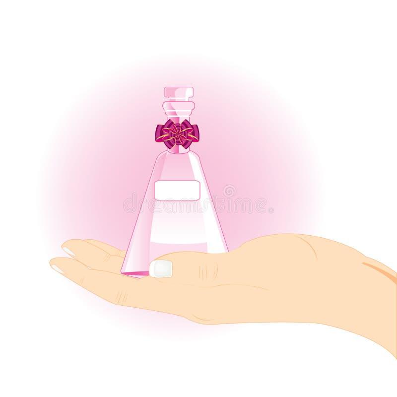 Flesje met in hand geest vector illustratie