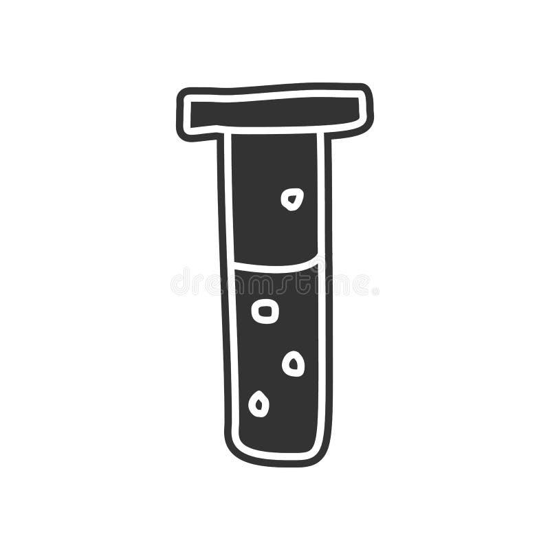 flesje met vloeibaar schetspictogram Element van onderwijs voor mobiel concept en Web apps pictogram Glyph, vlak pictogram voor w stock illustratie
